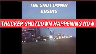 FURIOUS truckers SHUT DOWN in America