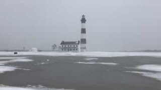 Eerie snowstorm in North Carolina