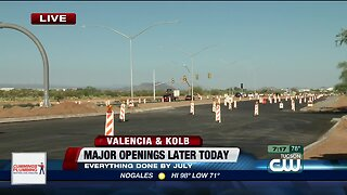Crews shift traffic in Valencia and Kolb project