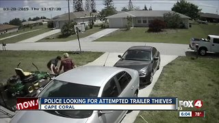 Police looking for attempted trailer theft suspects in Cape Coral