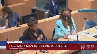 Palm Beach County's mask mandate is over, officials say