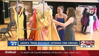 Union's prom boutique offering free classes