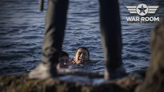 Spanish Military Pushing Migrants Off Cliffs As They Attempt To Invade Country