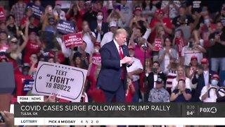 Coronavirus cases surge following Trump rally