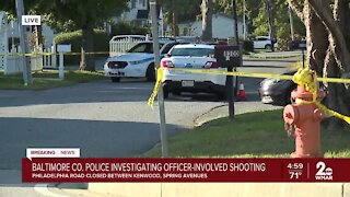 Baltimore County Police investigating officer-involved shooting on Philadelphia Road