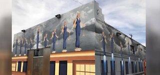 New Blue Angel mural in downtown Las Vegas