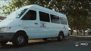 Van broadcasts COVID-19 message