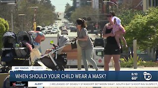 When should your child wear a mask?