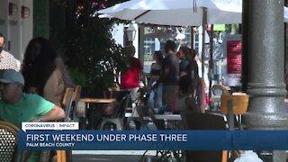 First weekend under Phase 3 is underway