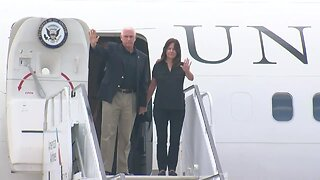 Vice President Mike Pence arrives in Tulsa to tour flood damage