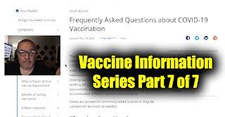 Vaccine Information Series Part 7 of 7