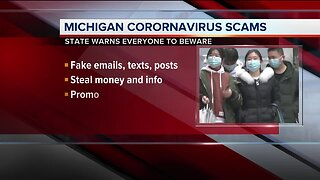 Michigan warns residents to beware of coronavirus scams