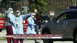 Mass drive-thru testing in Detroit