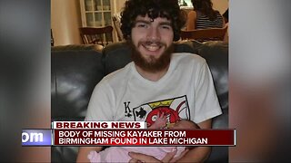 Body of missing kayaker from Birmingham found in Lake Michigan