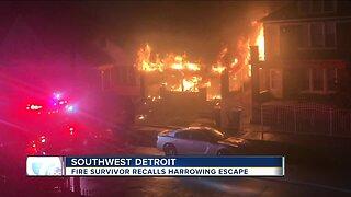 Fire survivor recalls harrowing escape from southwest Detroit building