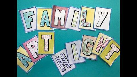 Family Art Night 1