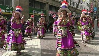 Bolivian and Peruvian dance music in Santiago, Chile