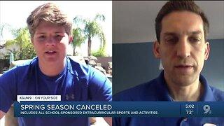 Spring sports season canceled