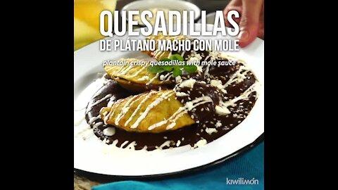 Plantain Quesadillas with Mole