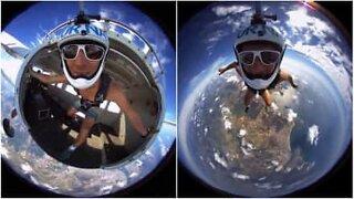 Paraquedista salta fora do planeta Terra?