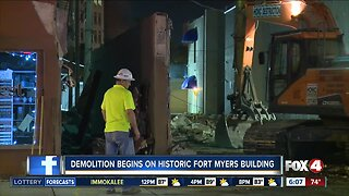 Historic building demolished overnight in Downtown Fort Myers