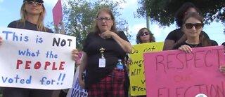 Palm Beach County teachers rally for pay raises