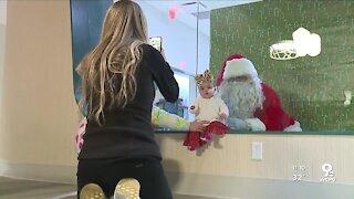 WATCH: Santa Claus visits children at the Ronald McDonald House
