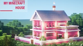How to Build a Beautiful Pink House in Minecraft Easy and Fast