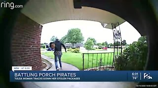 Battling Porch Pirates: Tulsa woman tracks down her stolen packages