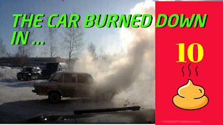 The car burned down in ...
