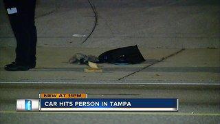 Tampa police investigating serious crash involving vehicle vs pedestrian