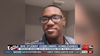 Bakersfield High School Student overcoming homelessness receives several acts of Kindness