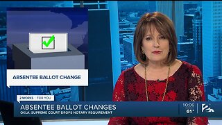 Absentee ballot changes: Oklahoma Supreme Court drops notary requirement