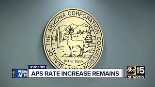 APS rate increase remains