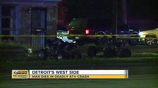Man dies in deadly ATV crash on Detroit's west side