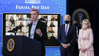 U.S. Women's Soccer Team Visits White House On Equal Pay Day
