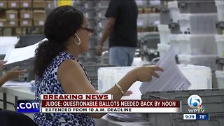 Judge extends Palm Beach County Supervisor of Elections deadline to produce questionable ballots