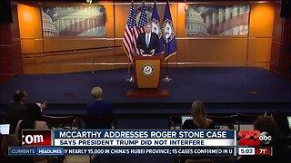 Rep. McCarthy Addresses Roger Stone