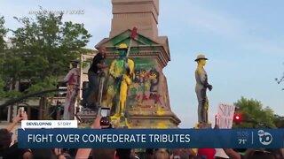 Fight over confederate tributes