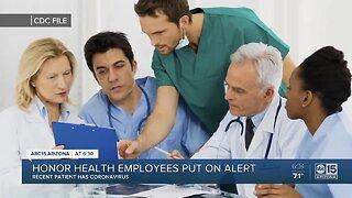 Honor Health employees put on alert over coronavirus
