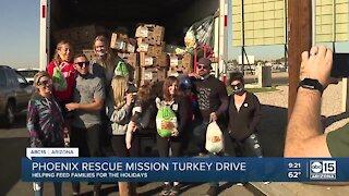 Phoenix Rescue Mission turkey drive