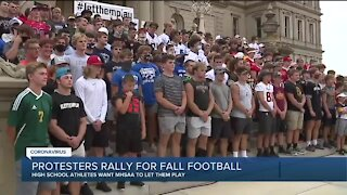 Rally held at State Capitol calling for return of high school football