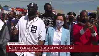 March for George Floyd at Wayne State