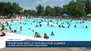 Nationwide shortage of chlorine tablets for pools