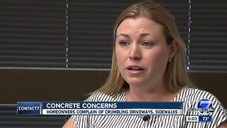 Arvada residents upset over crumbling concrete at new-build homes