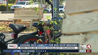 Looking into liability for bus stop benches in Cape Coral