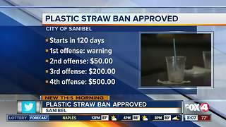 City of Sanibel gives final approval to plastic straw ban