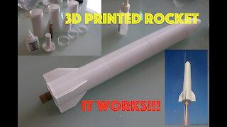 Fully Functional 3D Printed Rocket