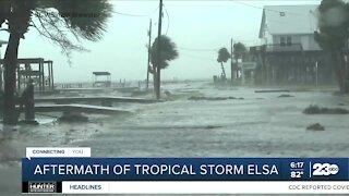 Aftermath of Tropical Storm Elsa