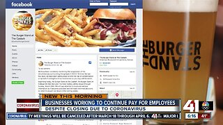 Businesses working to continue pay for employees